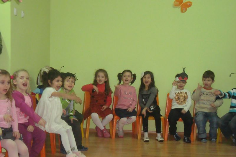 Children enrolled in kindergarten